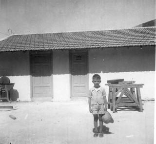 Maroc, 1946, dans la cour de la maison, Casablanca