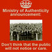 MOA poster: The public cares by Ministry of Authenticity