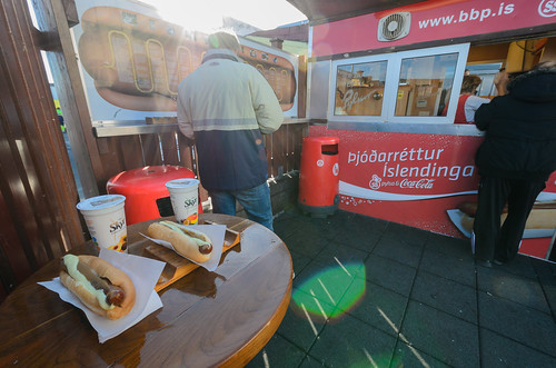 Most popular hot dog stand in Iceland
