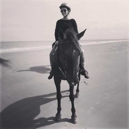 Horseback on the beach. #Kiawah
