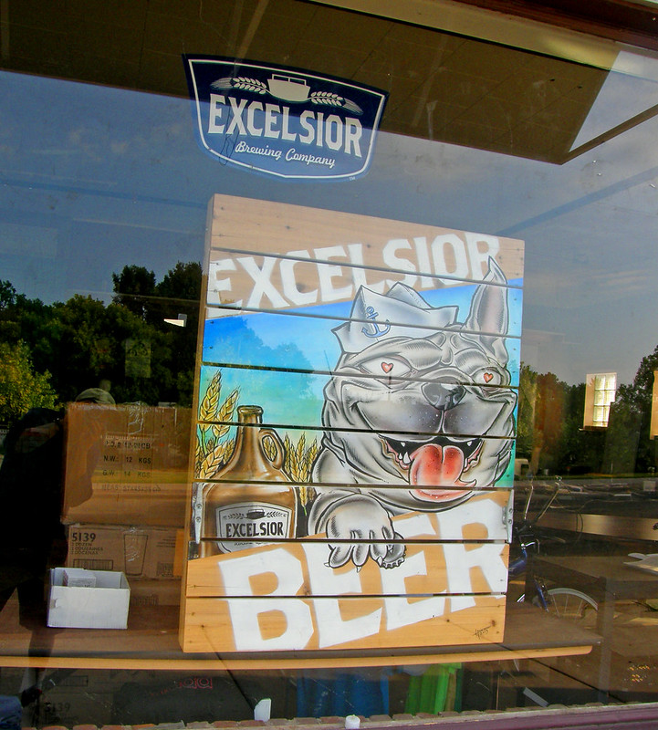Excelsior Beer painted pallet