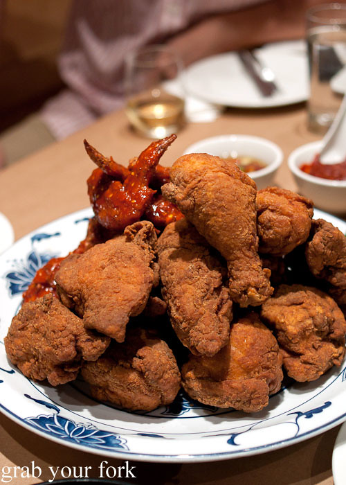 southern style buttermilk korean spicy momofuku fried chicken at momofuku noodle bar nyc new york david chang