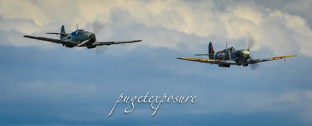 Friendly Skies - Supermarine Spitfire Mk. Vc and Messerschmitt Bf 109E-3