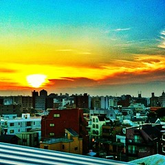 #sunset in #yokohama