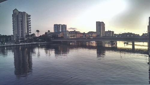 city water buildings skies view