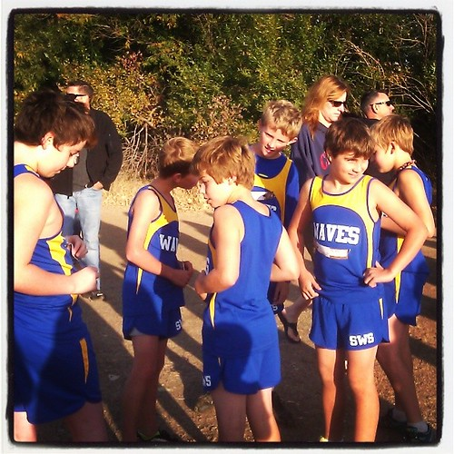 Go waves! Last middle school meet of the season.