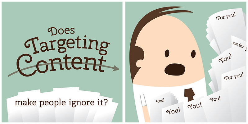 Does targeting content make people ignore it?