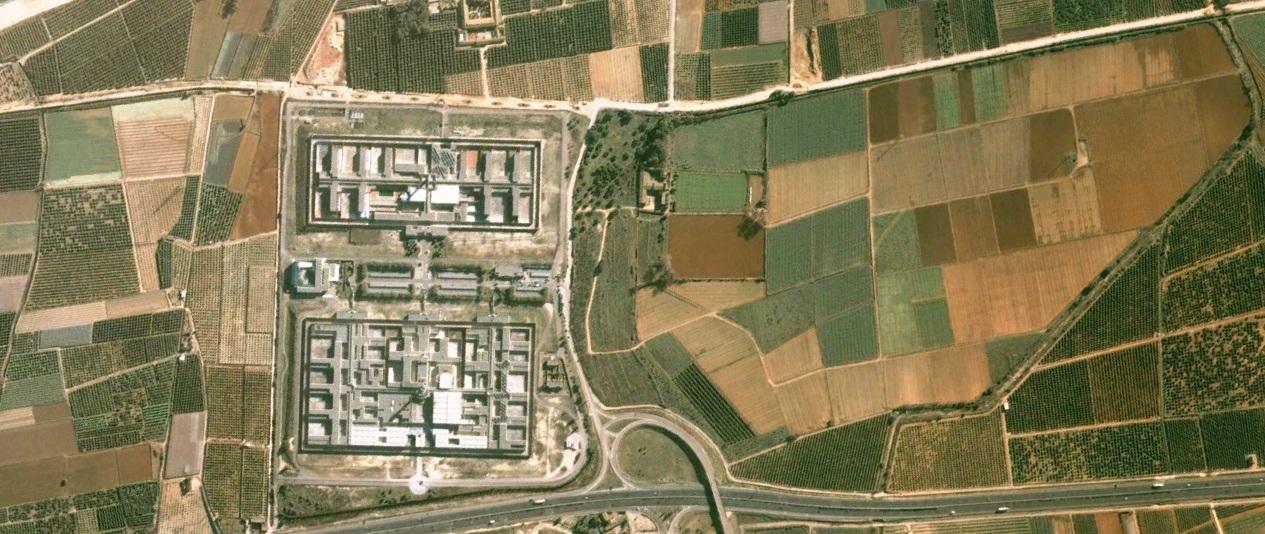 antes, urbanismo, foto aérea, desastre, urbanístico, planeamiento, urbano, construcción, Picassent, carcel, centro penitenciario