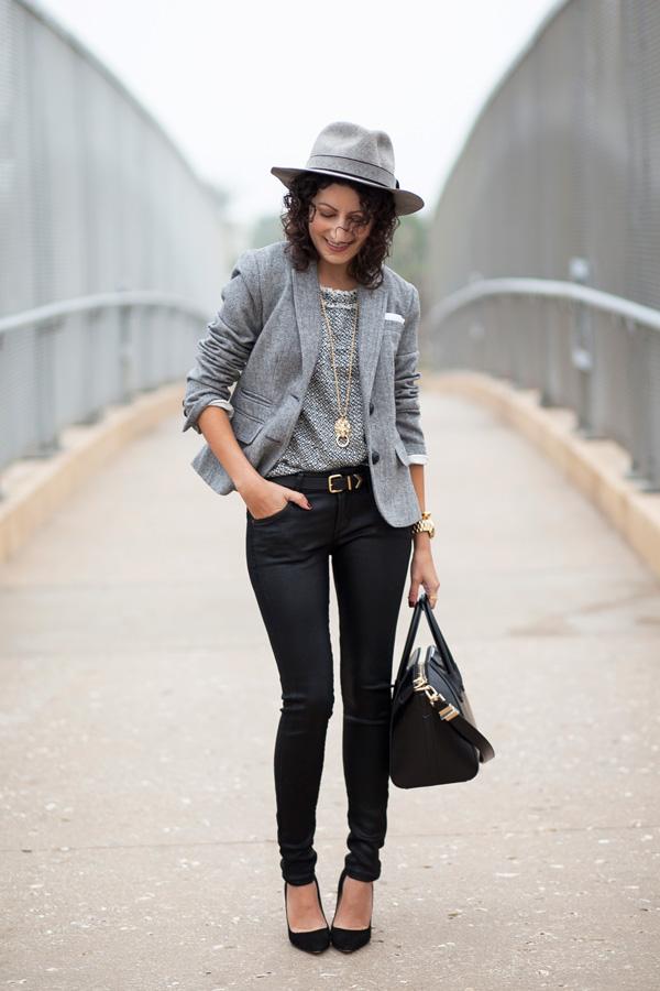 Monochrome Tweed & Coated Denim