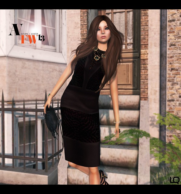 Ave Fashion Week Fall Winter 2013 (Kunglers) Shift Dress - Raisin - Close