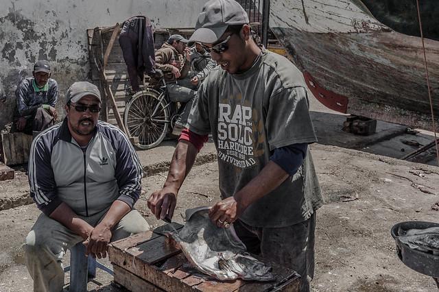 Fishmarket Essaouira Morocco