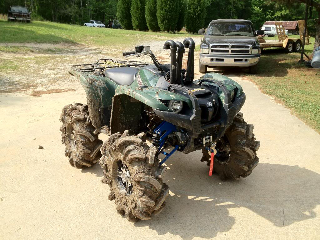 Grizzly 450 Lifted: 2012 Grizzly 700 With 6 Catvos Lift And