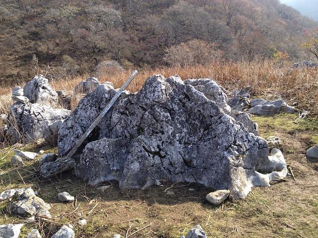 霊仙山 榑ヶ畑コース 7合目 お猿岩