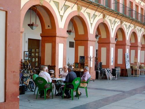Soziales Leben auf der Plaza Corredera