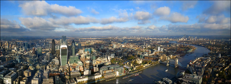 London panoramic view-  If you reblog the photo please leave a link to the original! Thanks!!! [2904x1056]