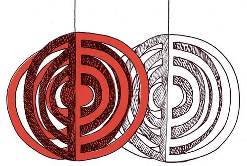 xmas paper circles