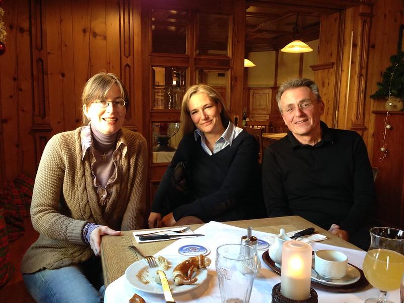 Marion Koppelmann, Julia Ney und Josef Hofmann in Seefeld
