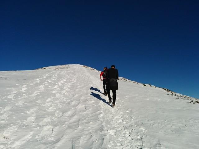 Die letzten Meter zum Gipfel des Sambock