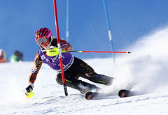 Marie-Michele Gagnon speeds her way to a 6th place finish in Courchevel, France