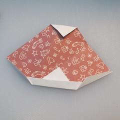 วิธีพับกระดาษรูปหมวกซานต้า 018