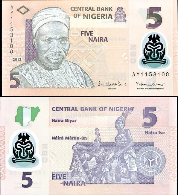 5 Naira Nigéria 2013, polymer