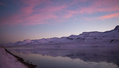 iceland ísland faskrudsfjordur fáskrúðsfjörður reflection speglun winter vetur evening síðdegi mountains fjöll sandfell sky himinn clouds ský jónínaguðrúnóskarsdóttir 25faves explored 50faves 2000views 100faves 4000views 5000views 7000views 8000views pwwinter sunset day pwpartlycloudy 10000views 11000views