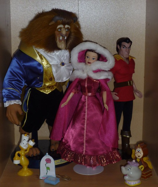 Set of Disney Beauty & The Beast Dolls #2 | new version of t ... Beauty And The Beast Belle Pink Dress