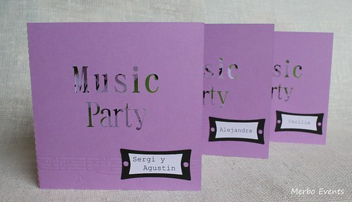Invitacion Music Party Merbo Events