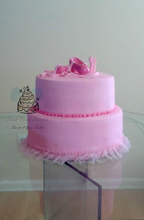 2 Tier Little Ballerina 1st Birthday Cake