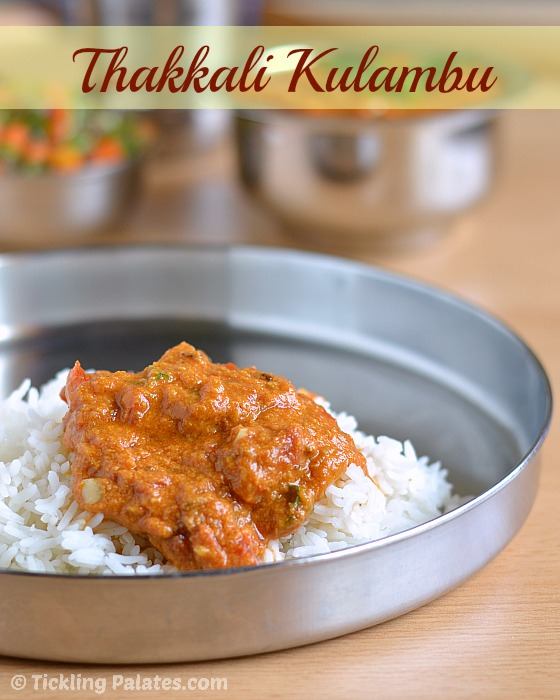Thakkali Kulambu for Rice