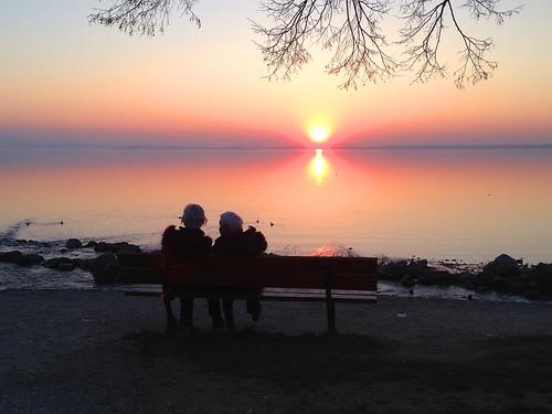 sunset people water germany bavaria chiemsee chieming vanagram blinkagain