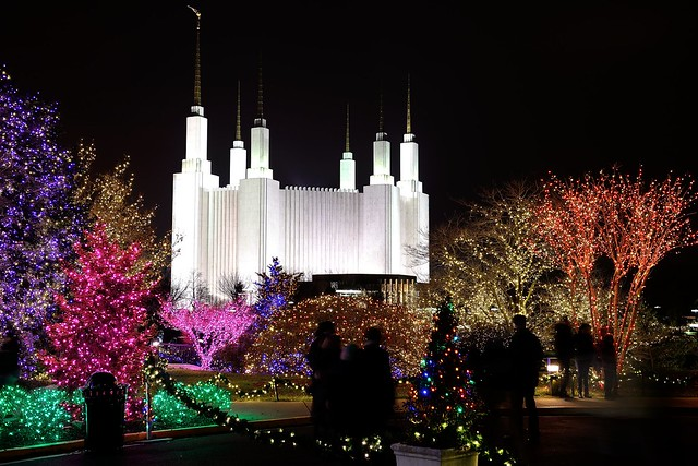mormon temple maryland christmas lights