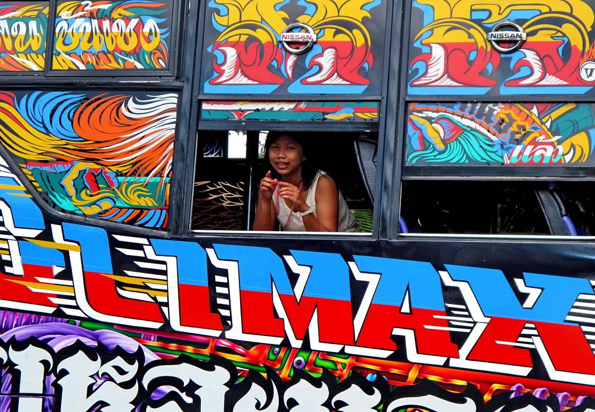 thai girl on a bus