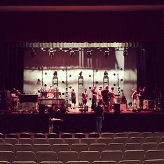 Setup for Easton Corbin tonight at 8pm. Free for FSC students.