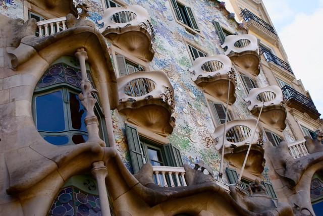 Casa Batlo, construction de Gaudi à Barcelone.