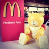 Its not every day u see a bear in a #McDonald
