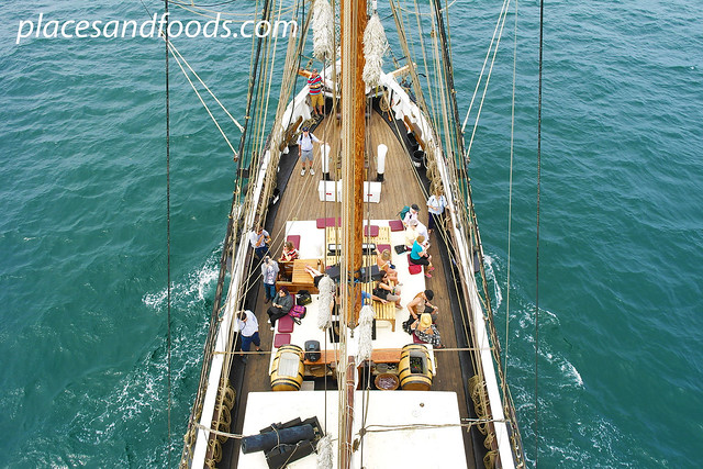 sydney tall ship top view