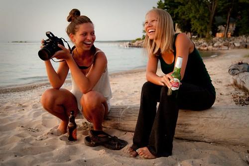 girls sunset summer beach sisters laughing sand olivia yvonne laugh summertime summerfun traversebay elkrapids michigansummer elkrapidsmichigan flickrandroidapp:filter=none