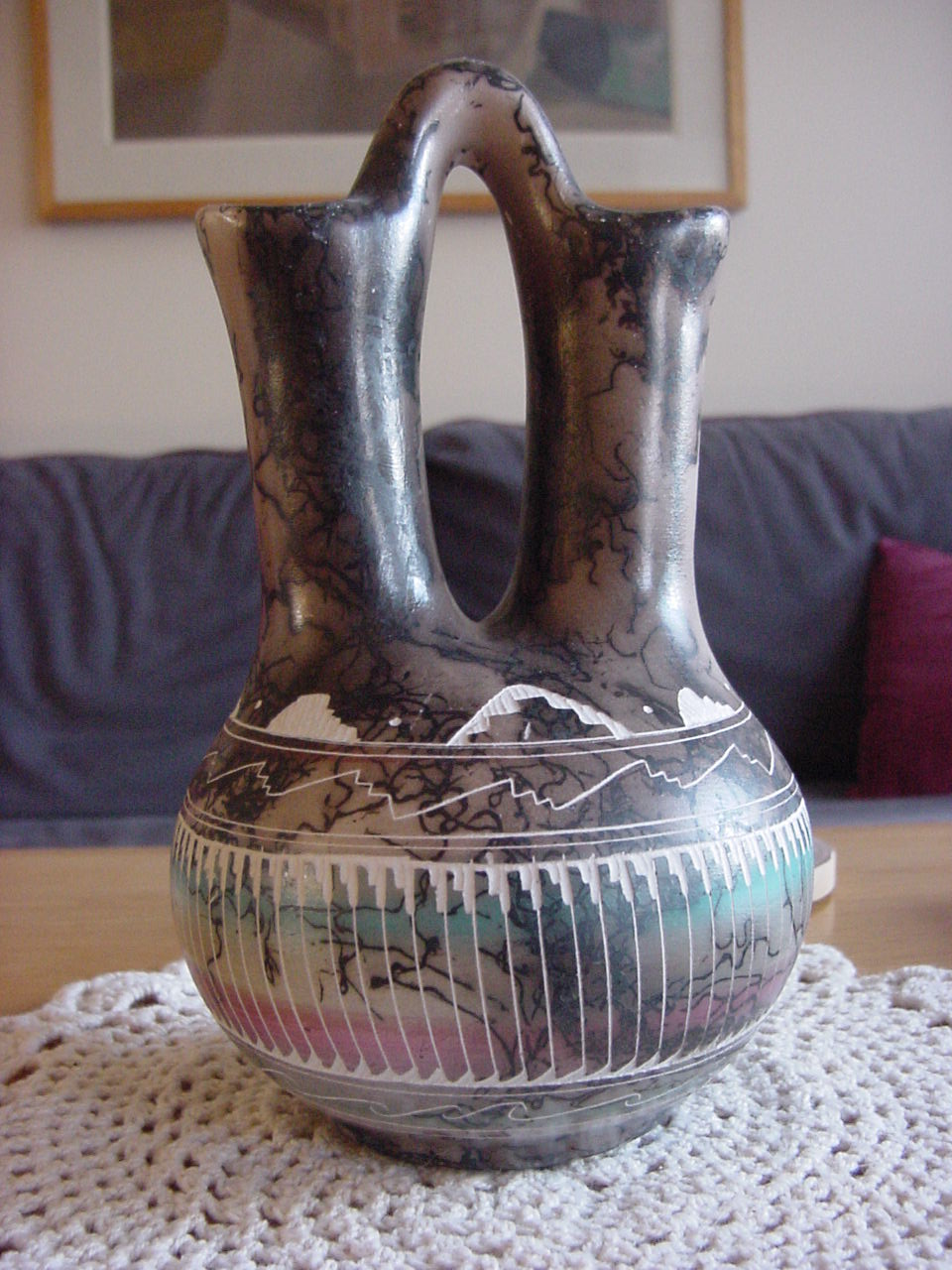 Native American wedding vase