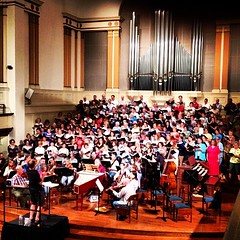 170+ singers, orchestra and conductor - it is like a freaking oven. Why do have to have hot spell right now? Why not post-concert?????