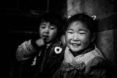 Two little girls-2(B&W)
