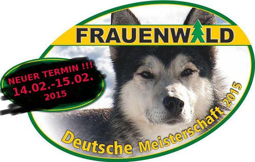 Schlittenhunderennen DM 2015, Frauenwald