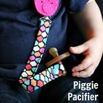 Pig Pacifier Clip