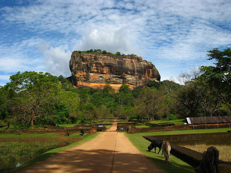 Sigiriya rock and surrounding gardens