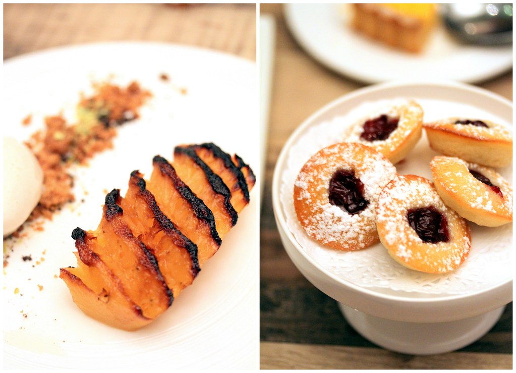 Shelter in the Woods: Rotisserie Pineapple Crumble & Raspberry Clafoutis