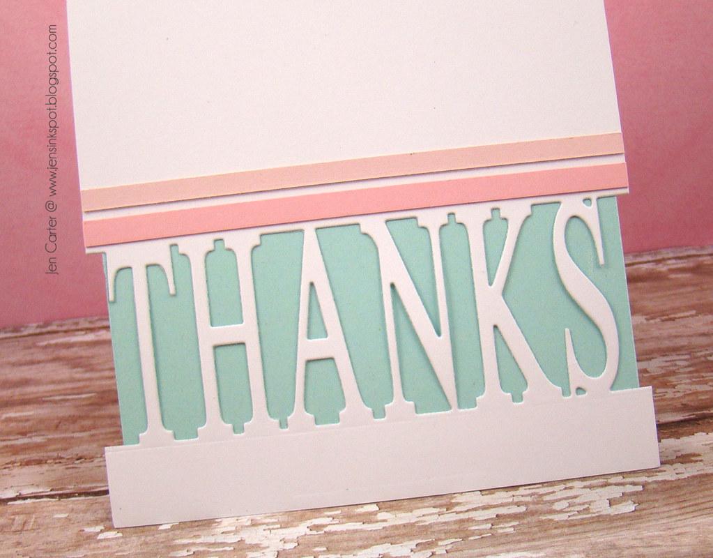 Jen Carter Thanks Lilac Pop Up Frantic Stamper Closeup