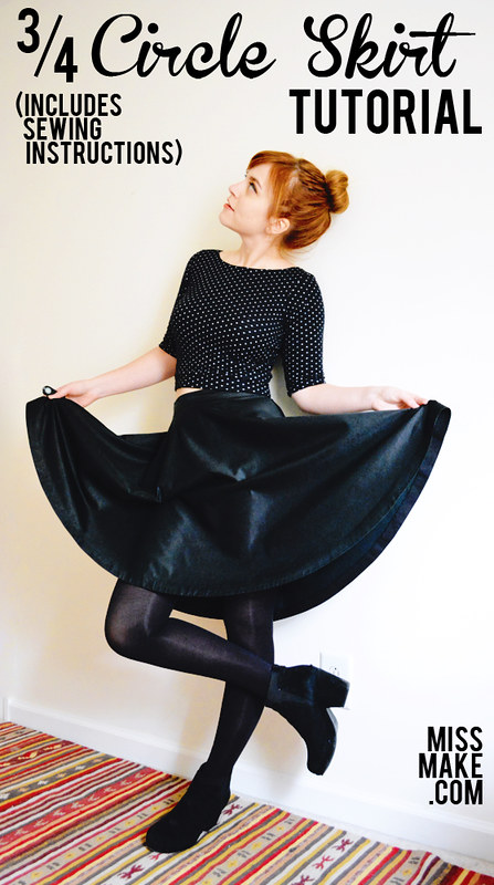 3/4 Circle Skirt Tutorial (includes sewing instructions)