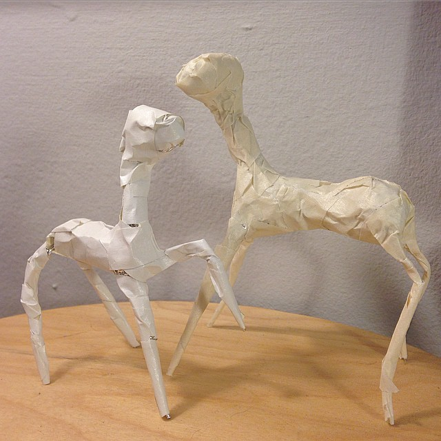 Waiting to get my clay in the mail. In the meantime I am building little armatures.