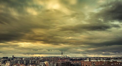 madrid city travel houses sunset sky architecture