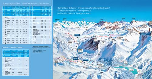 Schnalstal (Val Senales) - mapa sjezdovek